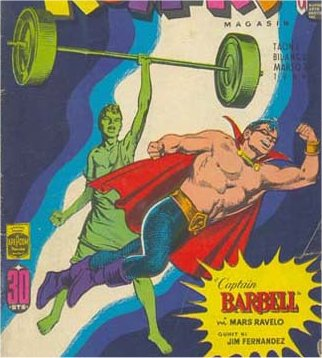 Enteng transforms into Captain Barbell