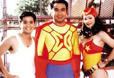 Ogie Alcasid, Bong Revilla & Regine Velasquez as Eteng, Captain Barbell and Darna