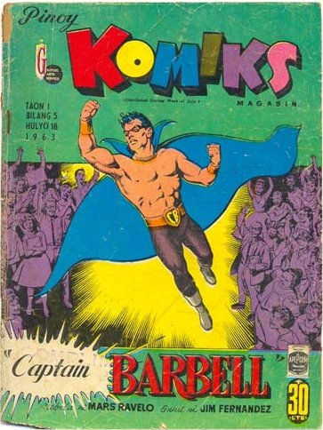 Captain Barbell in Pinoy Komiks