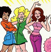 The Teen Angels, as depicted in Hanna-Barbera TV Stars #1
