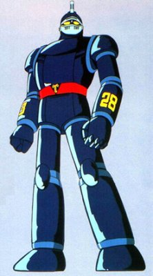 Tetsujin's more streamlined look for the 1980's cartoon.